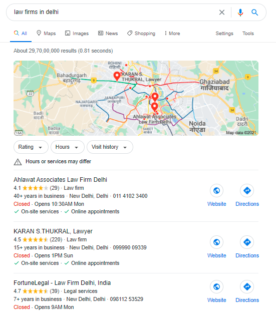 GMB listing search